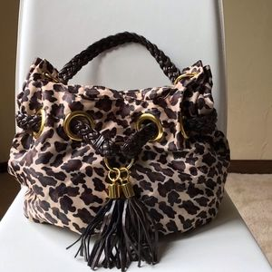 Braciano Animal Print Tassle Handbag